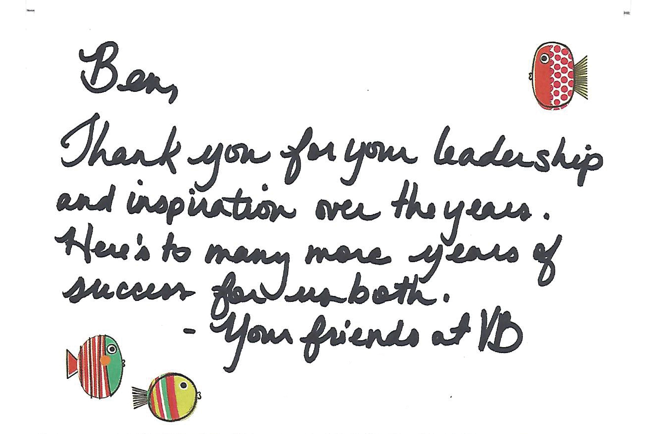 Thank You for Your Leadership - A Note to Ben Glass
