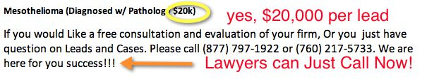 Maxximum Legal Centers Lead Pricing