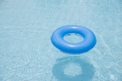 Inflatable Tube in a Swimming Pool