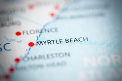 Myrtle Beach Pin-Pointed on a Map