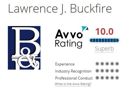 Lawrence Buckfire 10.0 Avvo Rating