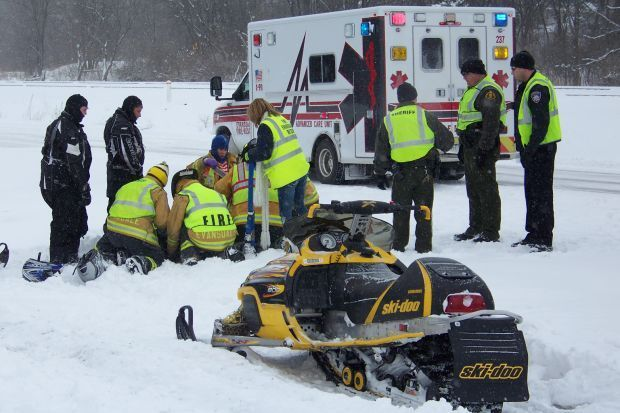 passengers injured in michigan snowmobile accidents