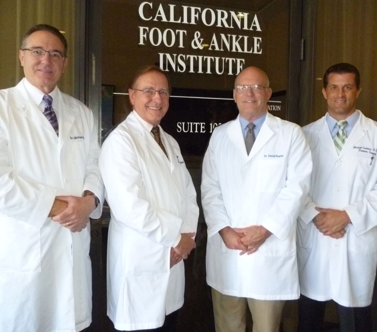 The podiatrists of California Foot & Ankle Institute