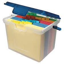 Clear File Box with Folders