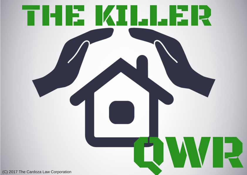The Killer QWR (c) The Cardoza Law Corporation 2017