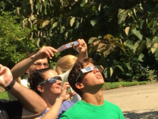 The team watches the 8/2017 eclipse.