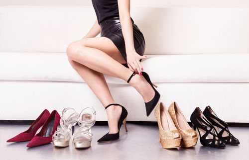 Heels are often the culprit of the pump bump.