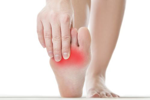 Ball of foot pain can be caused by a number of variables. Your podiatrist can figure it out.