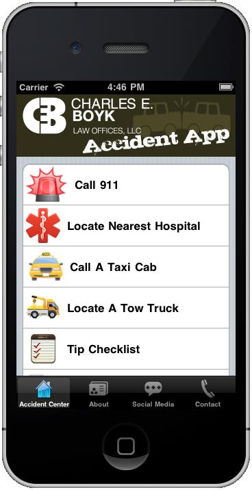 Charles E. Boyk Accident App