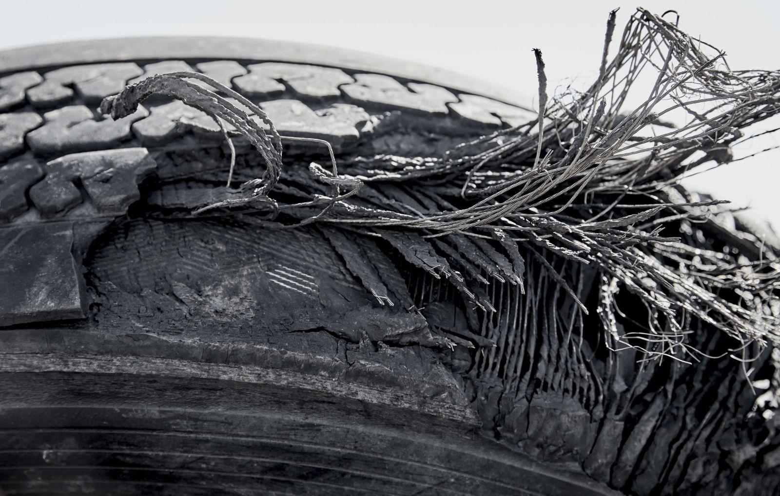 Truck Tire Debris