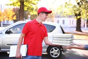 Worker Delivering Pizza