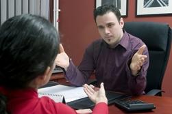 An Employer Talking to an Employee