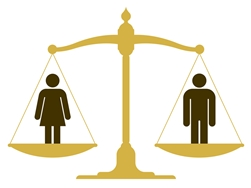 Man and Woman Balancing Equal Rights