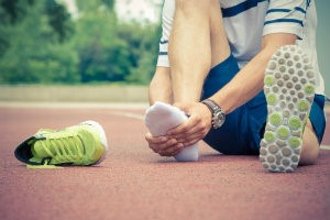 Athlete with ball of foot pain