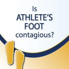 Is athlete's foot contagious?