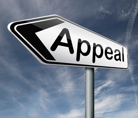 Appeal Sign With a Blue Sky Background
