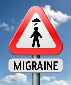 Migraine Sufferer Sign Under a Lightning Strike