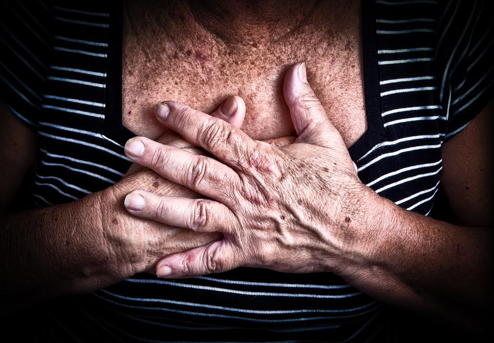 hands over heart