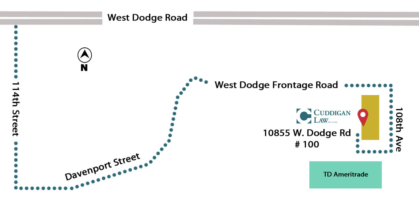 Directions to the new office location for Cuddigan Law.