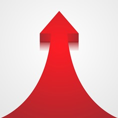 Increasing Red Arrow