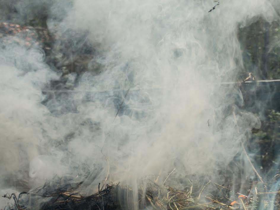 smoke from a burn pit