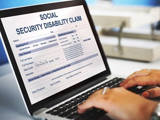 Computer Open To Social Security Disability Claim Page