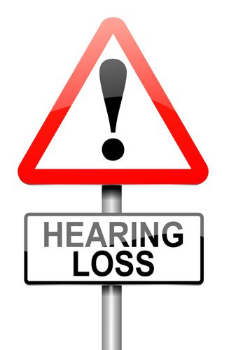 Hearing Loss Sign With an Exclamation Point