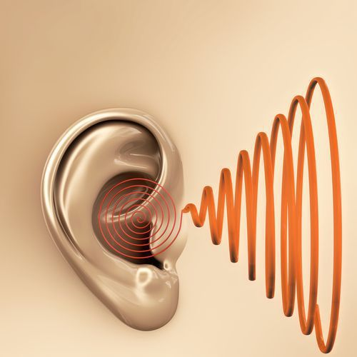 An Ear Receiving Sound Waves
