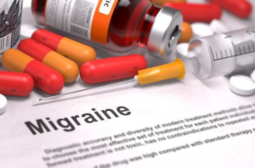 Migraine Paperwork Surrounded by Medication