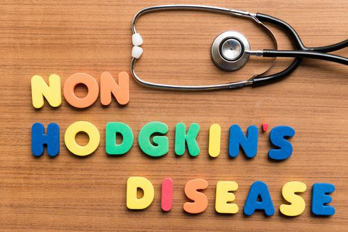 Non-Hodgkins Disease Spelled out With Colored Letters