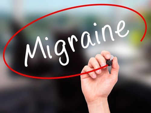A Hand Writing Migraine on a Whiteboard