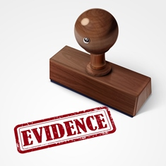 Red Evidence Stamp