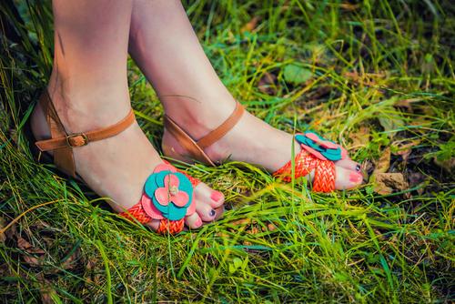 Sandal ready feet.