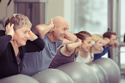 Exercising with Pilates