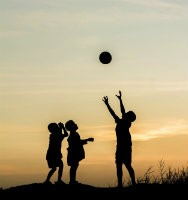 Children playing sports