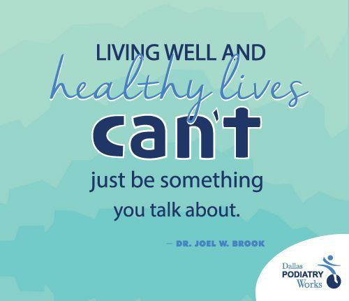 Living well and healthy lives can't just be something you talk about
