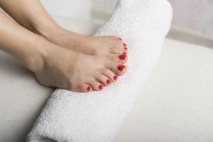 Healthy Feet on a towel