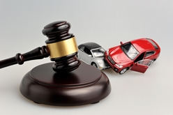 A Gavel By a Model Car Collision