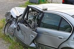 Wrecked Car After a Crash