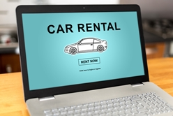 Using a Car Rental Website After a Collision