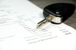 Car Repair Invoice With a Car Key