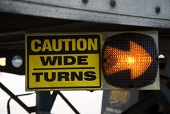 Caution: Wide Turns on a Semi-Truck