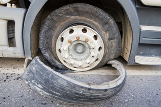 Semi-Truck Tire Blowouts Can Be Catastrophic