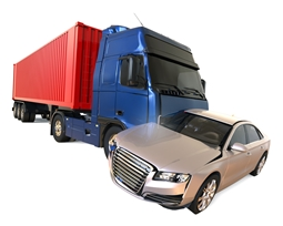 Semi-Truck Collision With a Compact Car