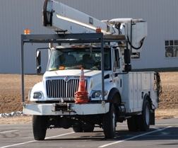 Utility Truck With a Lift