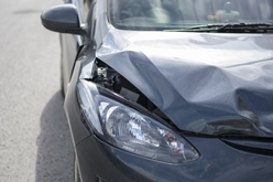 Damaged Car After a Car Collision