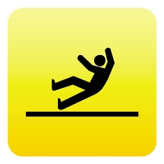 Yellow Slip and Fall Sign