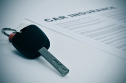 Car Insurance Paperwork and Car Keys