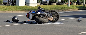 Motorcycle accident due to U-turn