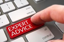 Red Expert Advice Keyboard Button